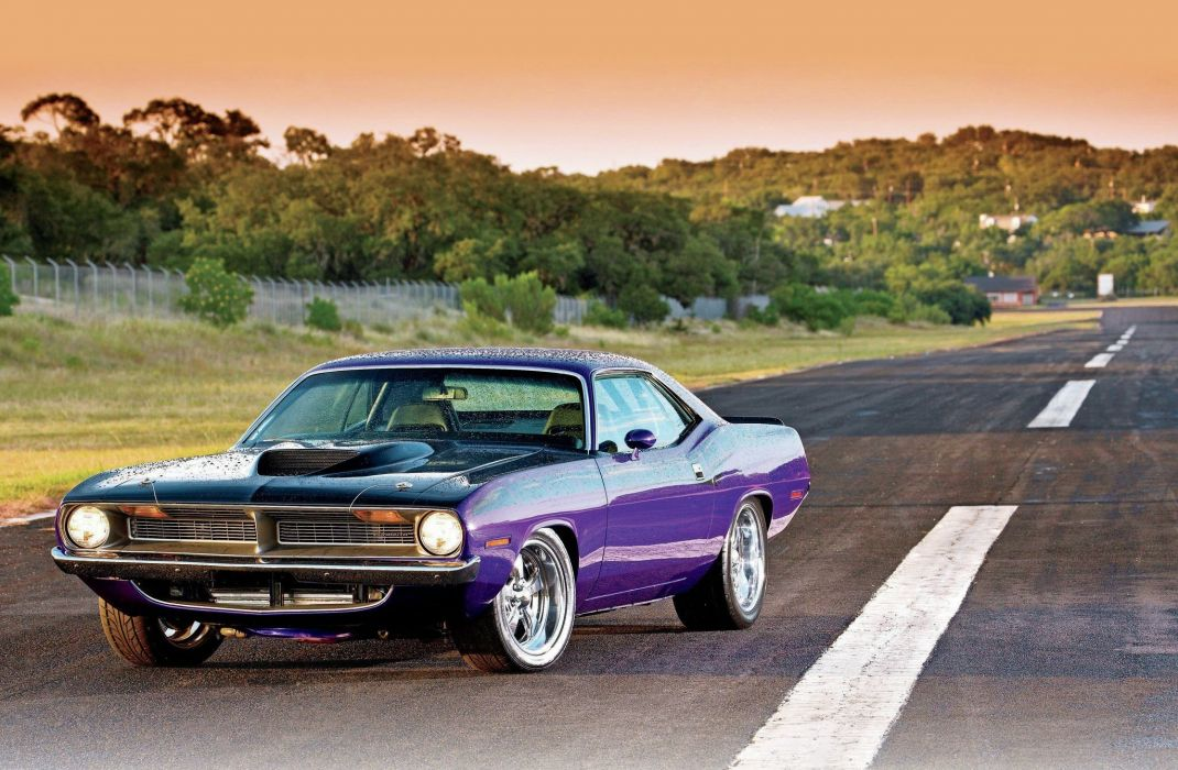 1970 Plymouth Barracuda cuda muscle car usa wallpaper
