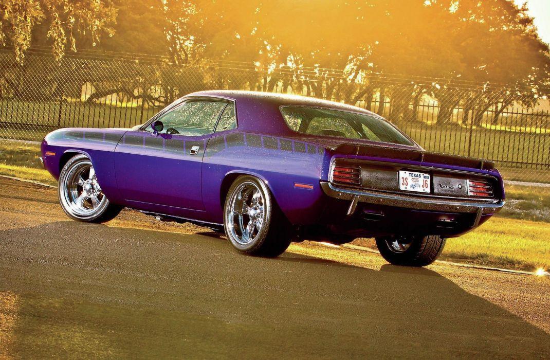 1970 Plymouth Barracuda cuda muscle car usa wallpaper