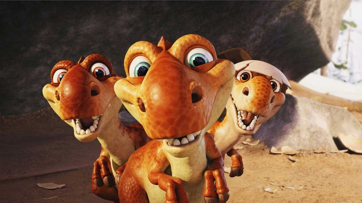 dinosaurs ice age movie cartoon wallpaper