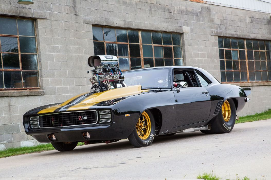 1969 Chevy Camaro Z 28 Muscle Cars Supercharger Ihra Pro Mod Racers