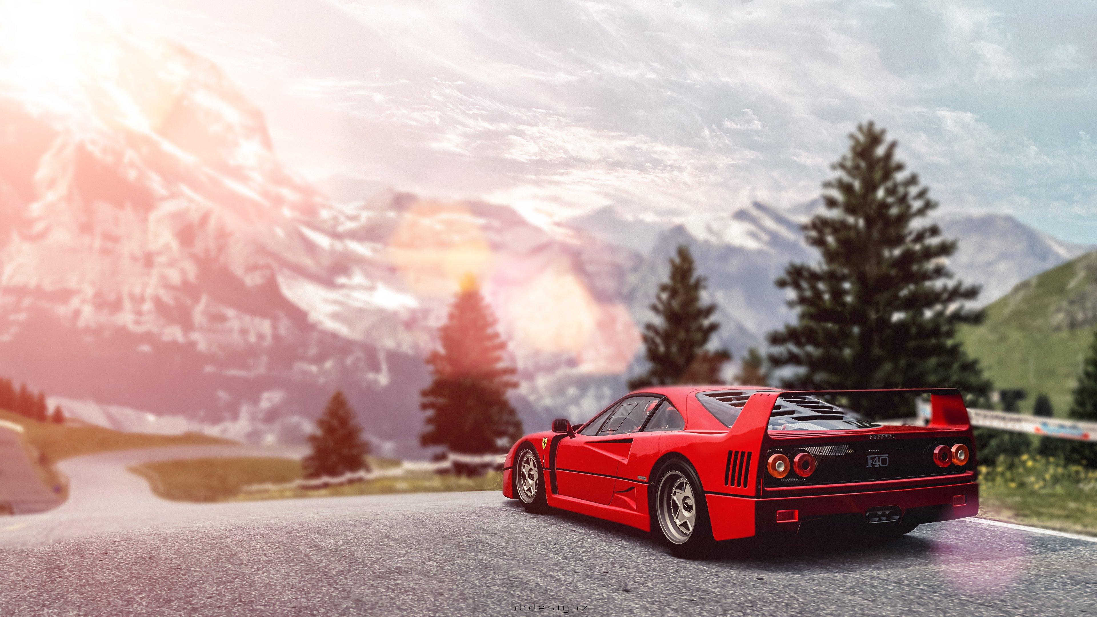 Ferrari F40 Gran Turismo 6 Nbdesignz Wallpaper 3840x2160