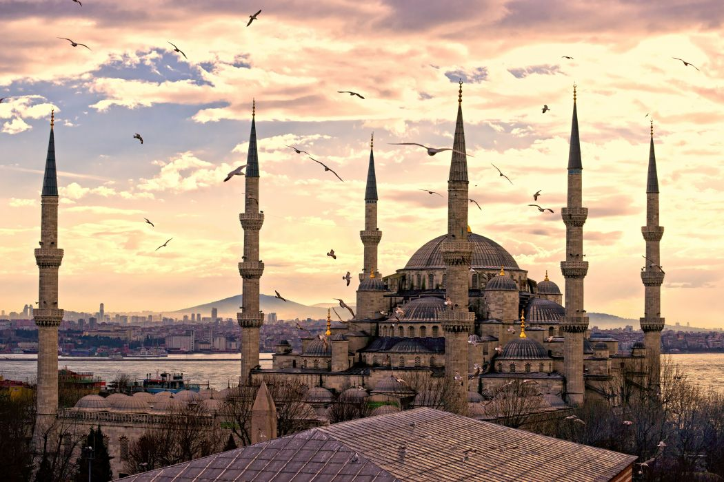 city turkey istanbul sultanahmet mosque wallpaper