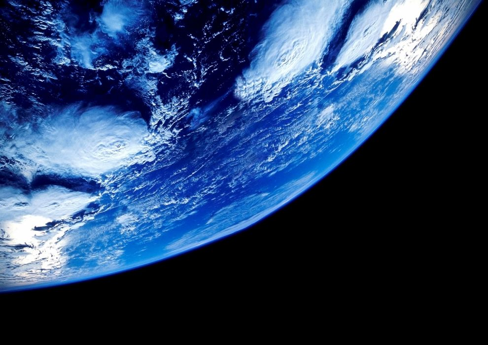 earth our planet space oceans orbit wallpaper