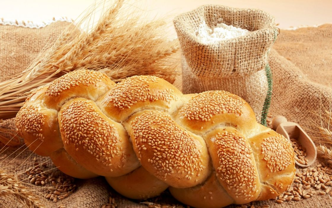 bread long loaf sesame bag Flour grain wheat ears wallpaper