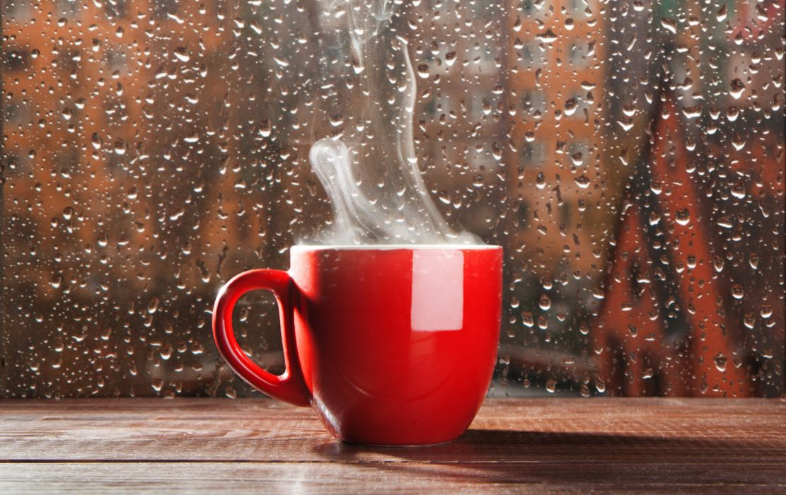 rain cup smoke glass drops wallpaper