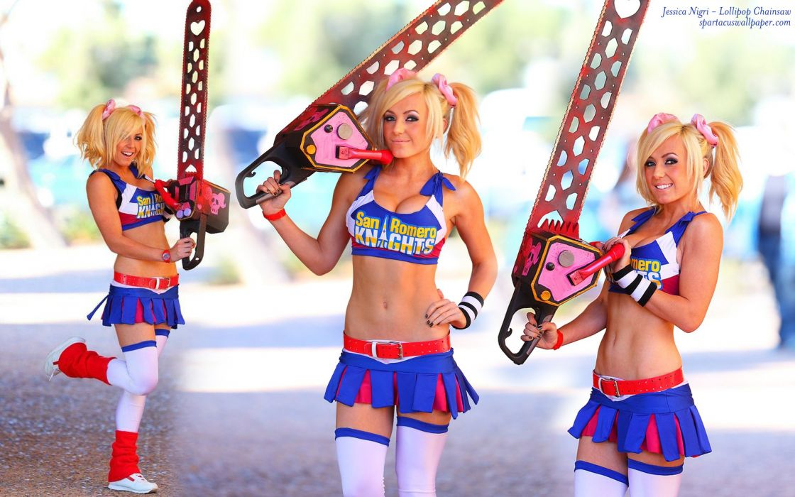 Lollipop Chainsaw Comedy Horror Action Fighting Dark Cosplay Sexy