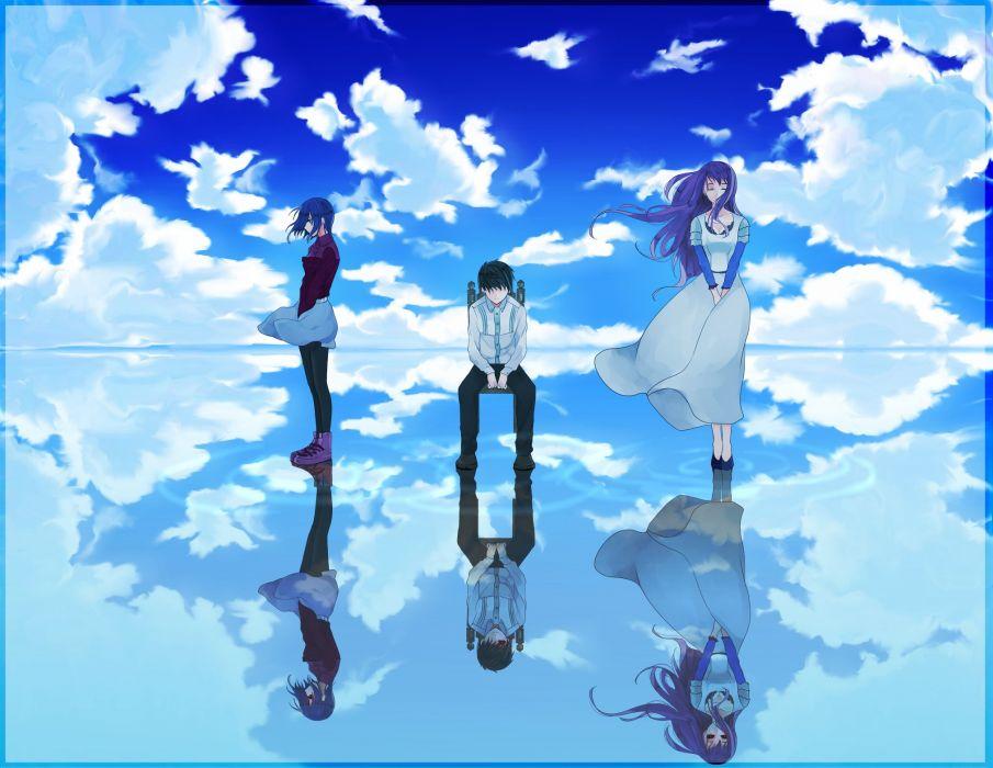 Tokyo Ghoul Characters Kamishiro Rize Kaneki Ken Kirishima Touka wallpaper
