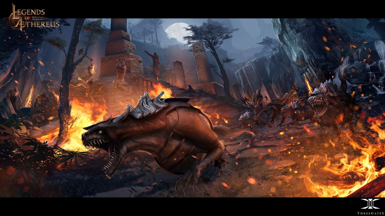 LEGENDS OF AETHEREUS pvp fighting fantasy rpg mmo online wallpaper