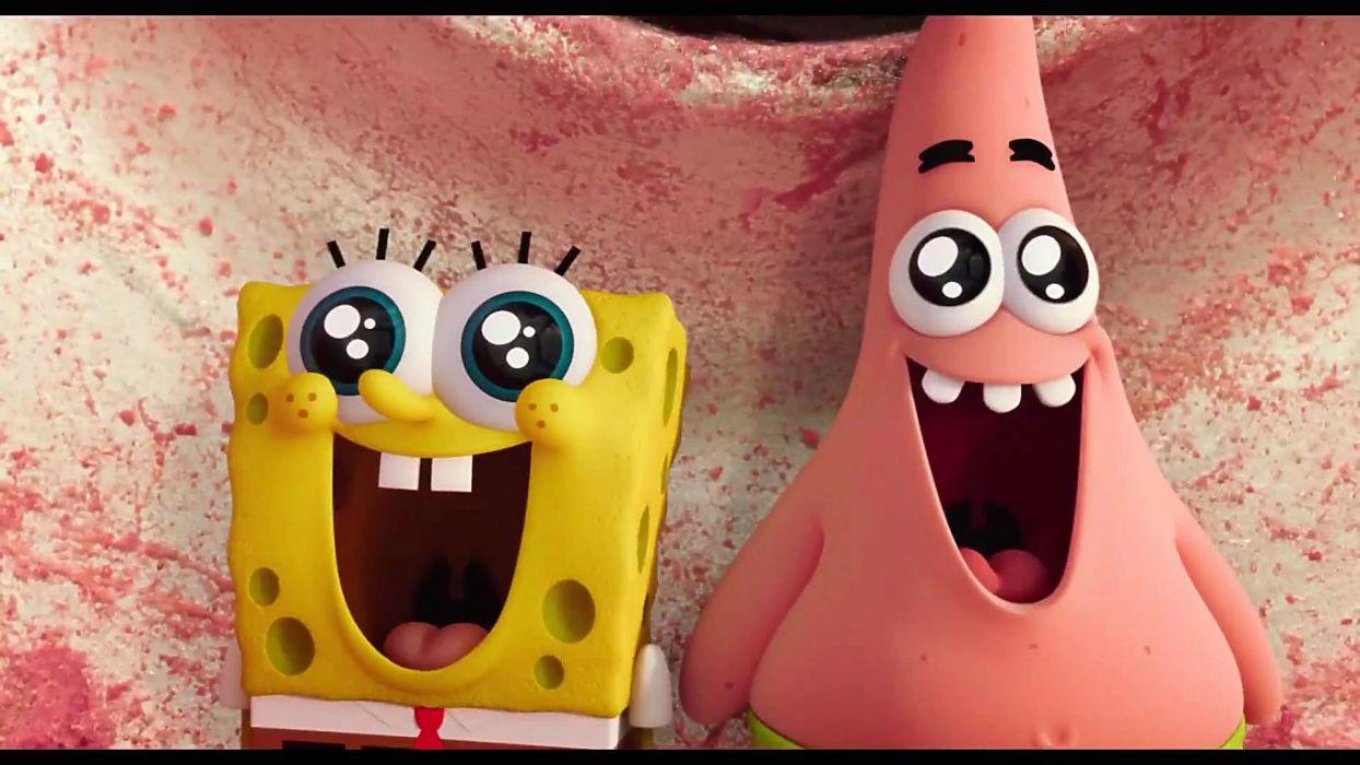 SPONGEBOB Sponge Out of Water family cartoon animation family wallpaper