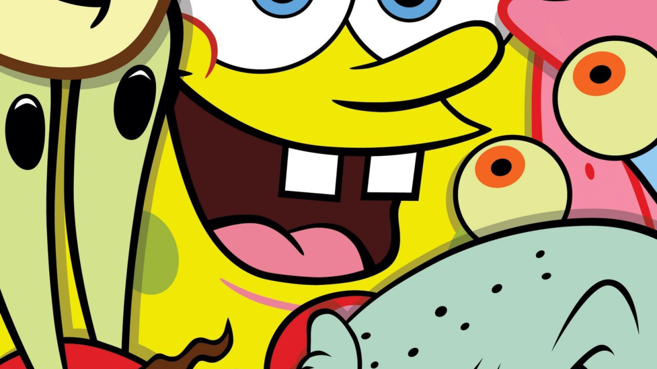 spongebob squarepants cartoon family animation wallpaper