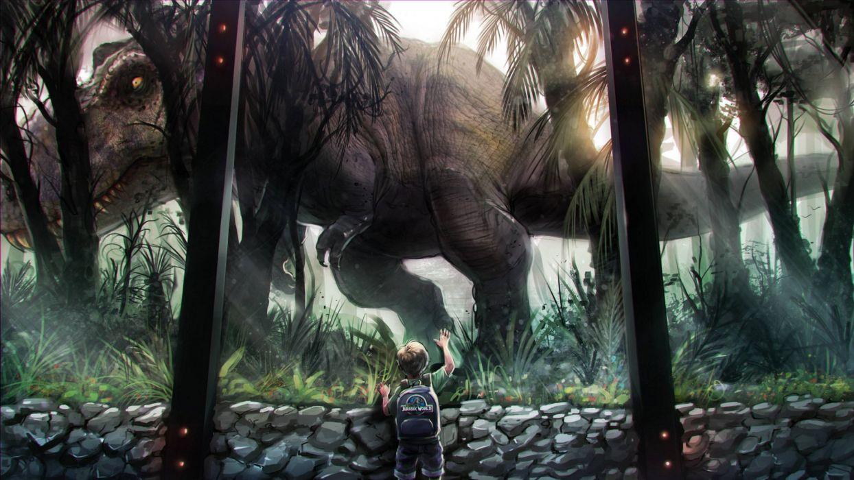 JURASSIC WORLD adventure sci-fi dinosaur fantasy action wallpaper