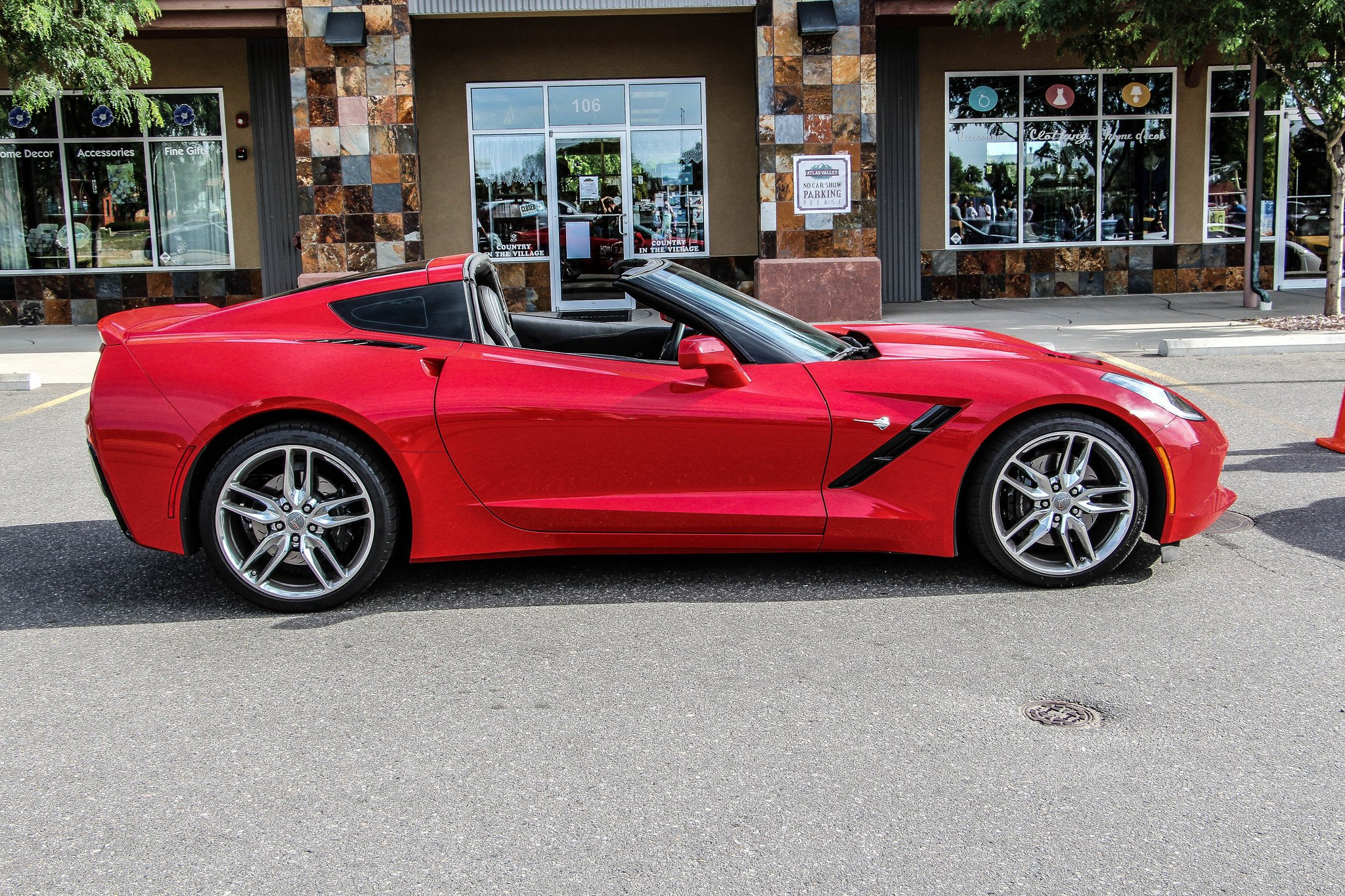 Chevy Chevrolet Corvette C7 muscle stingray Supercars convertible cars usa red rouge wallpaper ...