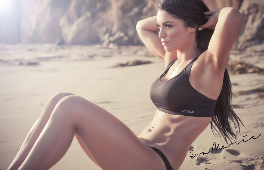 Eva Marie workout fitness brunette wallpaper