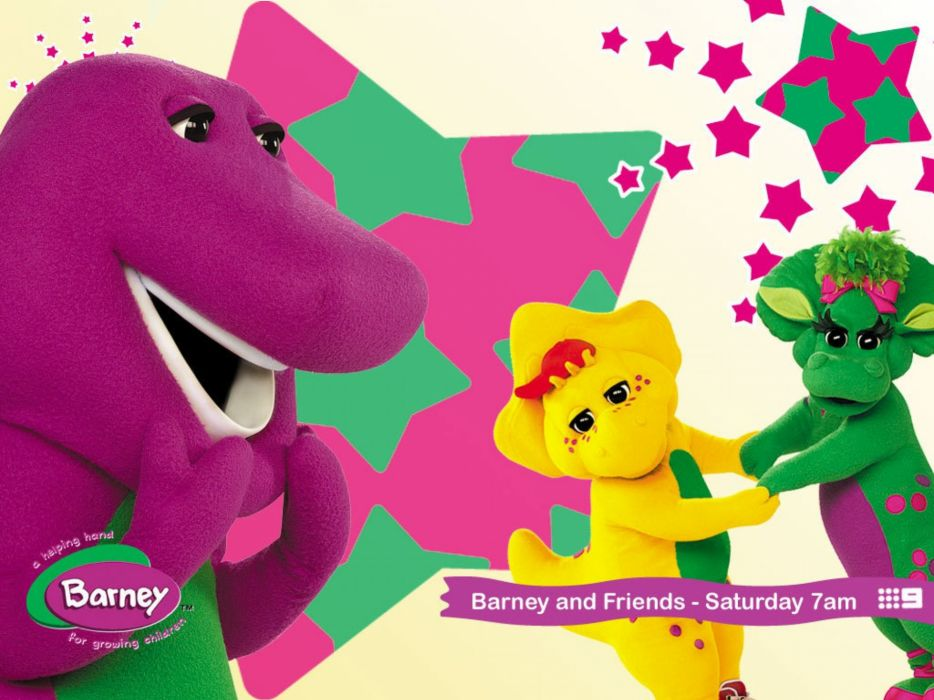 BARNEY family series adventure comedy dinosaur wallpaper