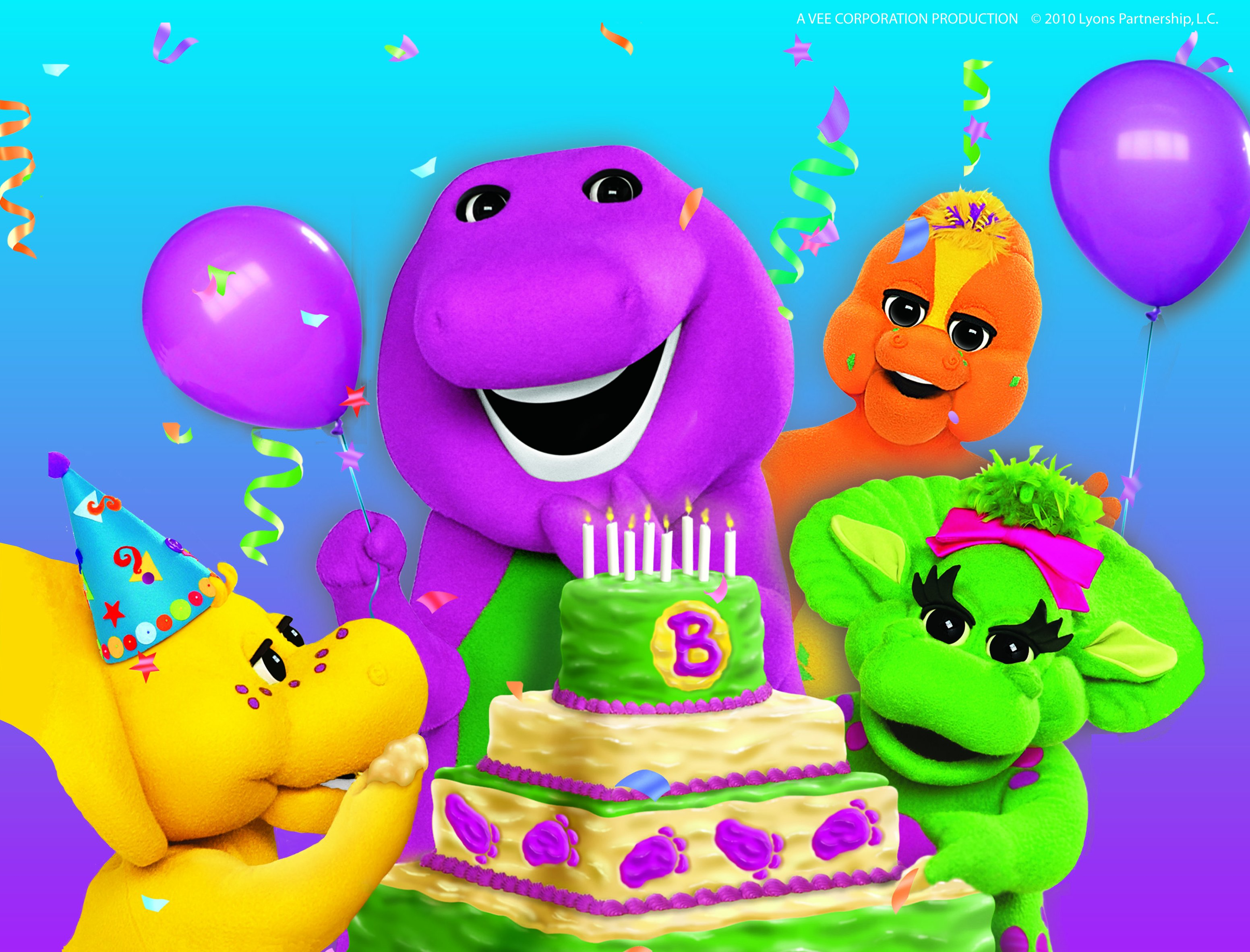 Barney Birthday Cake Template