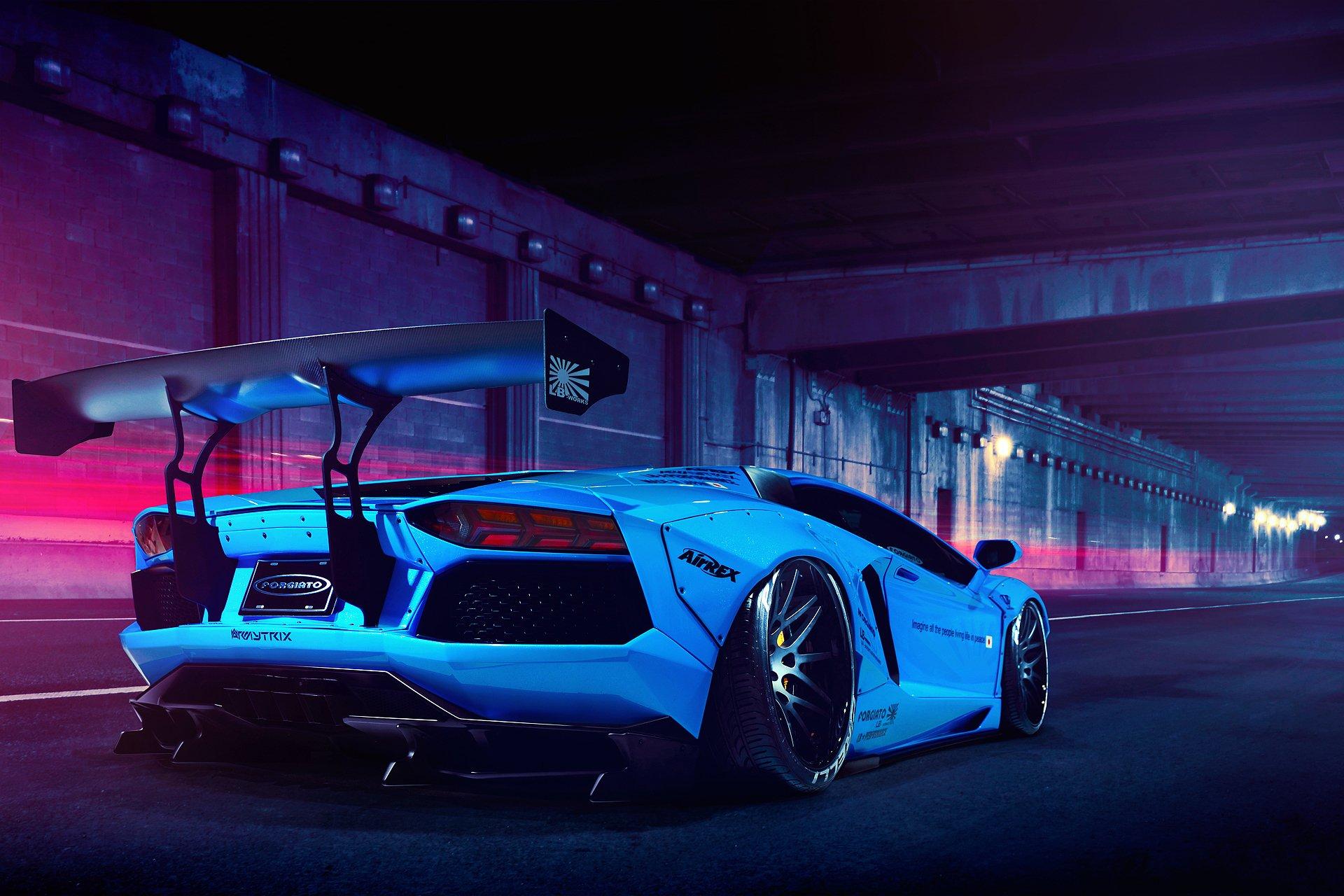 Lamborghini Aventador Lp700 4 Liberty Walk Blue Wallpaper 1920x1280 523578 Wallpaperup