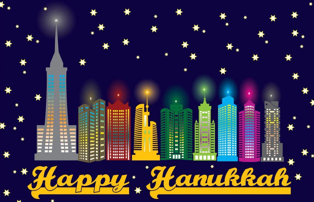 Hanukkah Hannukah Channukah Chanukah Jewish Holiday Festival of Lights wallpaper