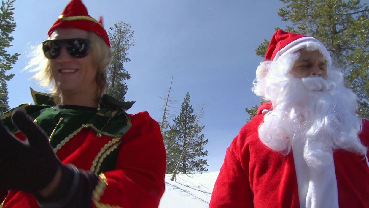 JACKASS comedy reality series documentary funny christmas santa wallpaper