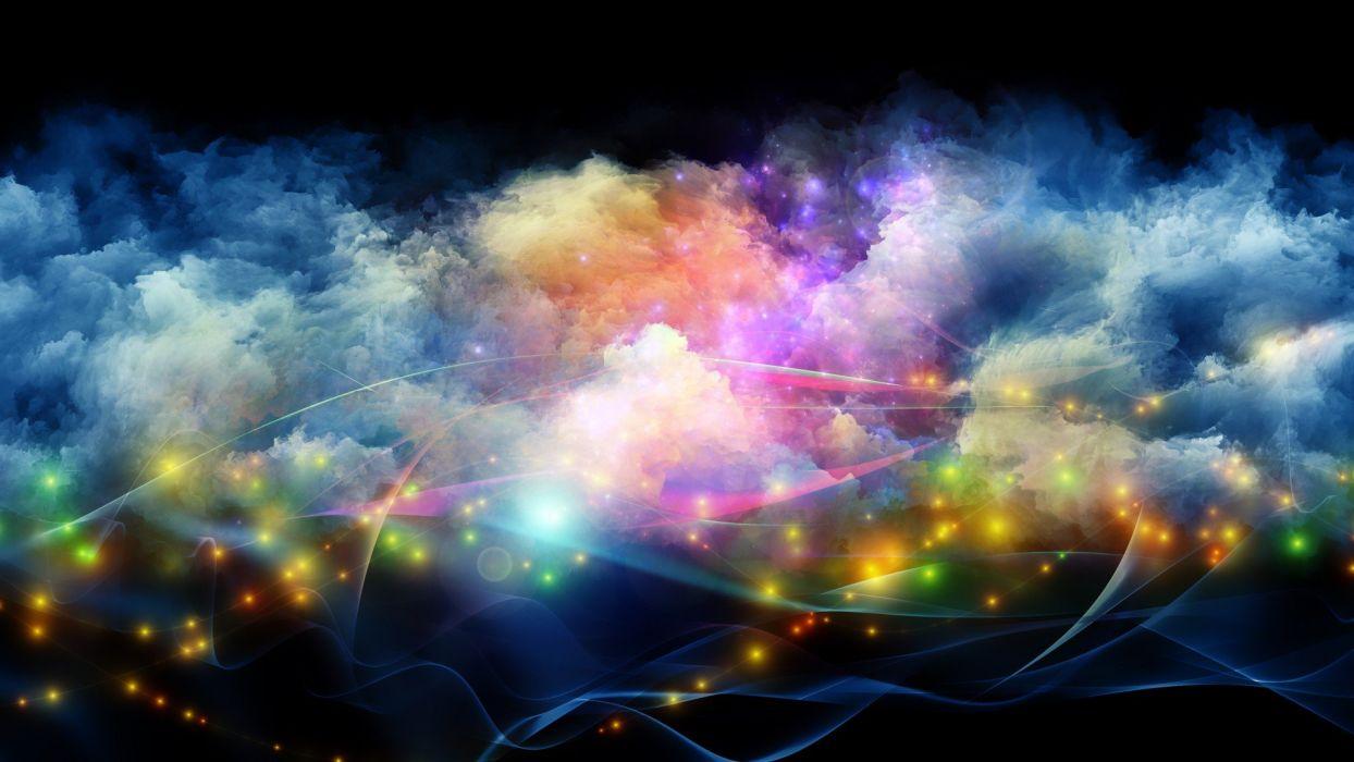 colorful lights sparkle neon wallpaper