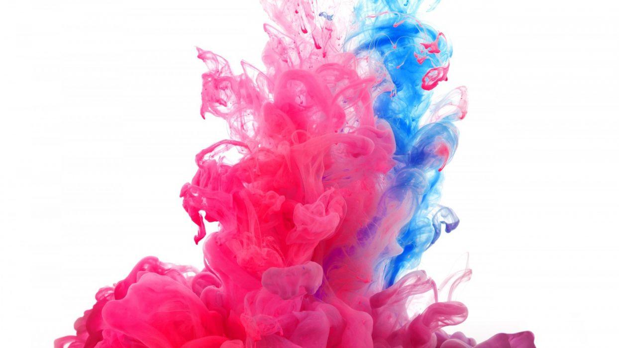 pink blue smoke fractal wallpaper