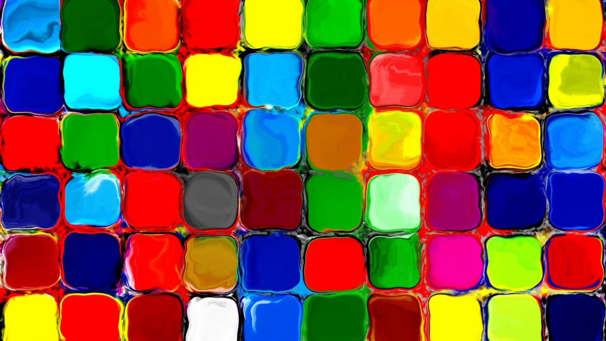rainbow colors tiles bright wallpaper