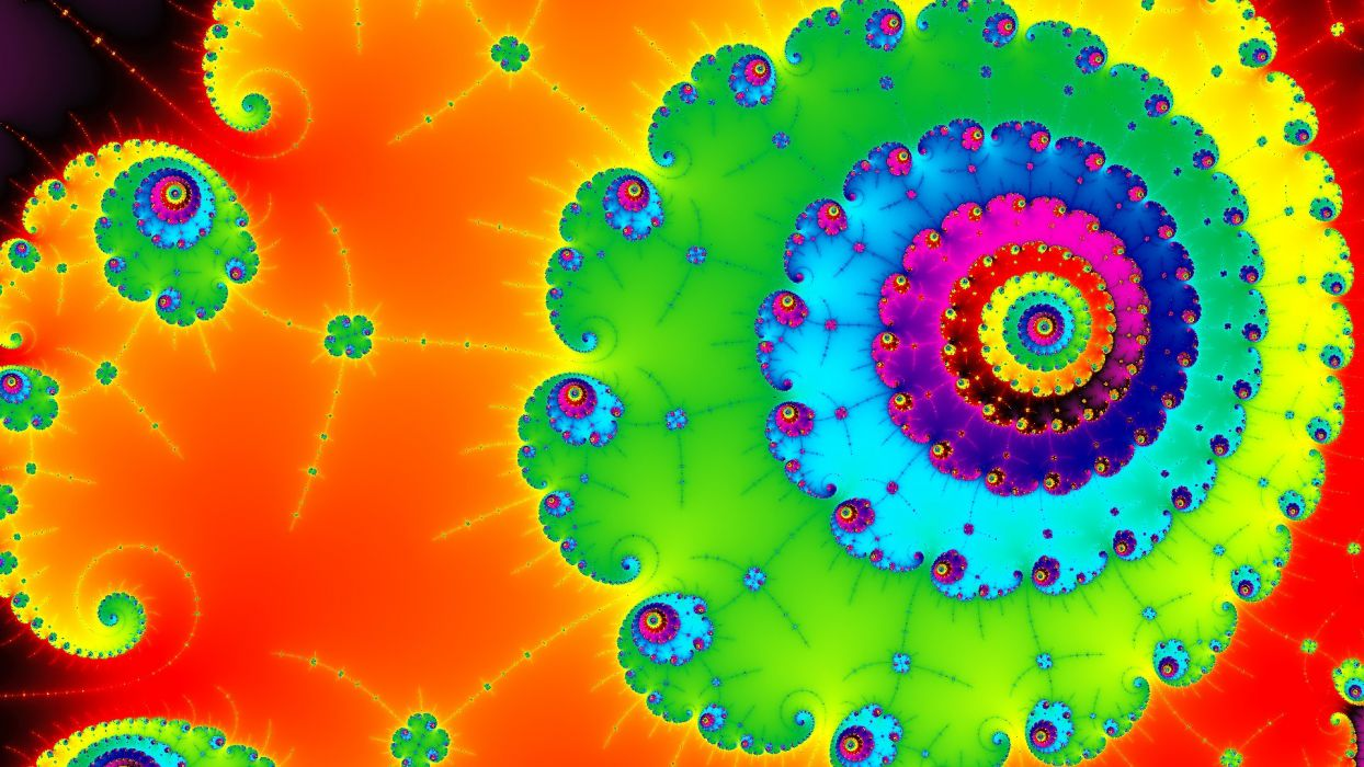 spiral colorful bright psychedelic wallpaper