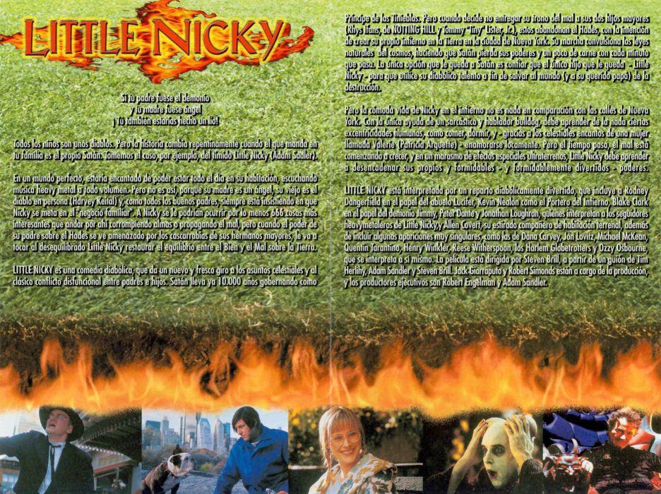 LITTLE NICKY comedy fantasy demon satan dark horror sandler wallpaper