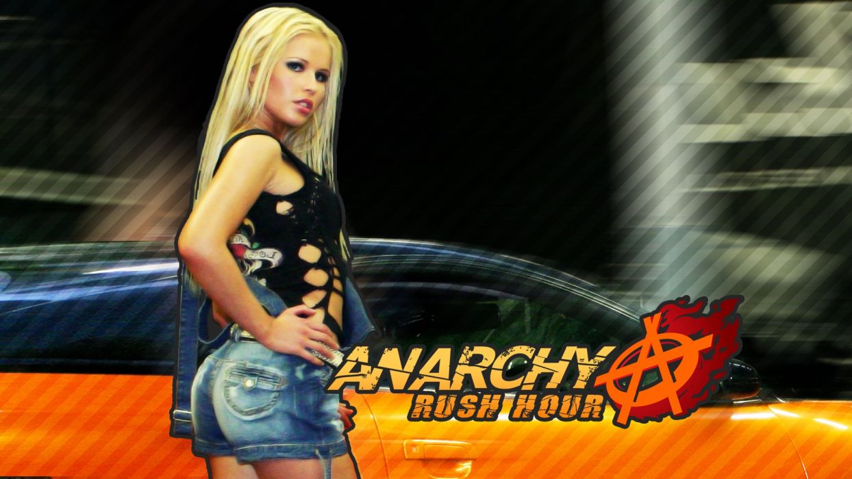 ANARCHY RUSH HOUR racing race action cosplay sexy babe wallpaper