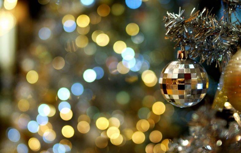 holiday lights celebration new year mood garlands magic decoration tree wallpaper