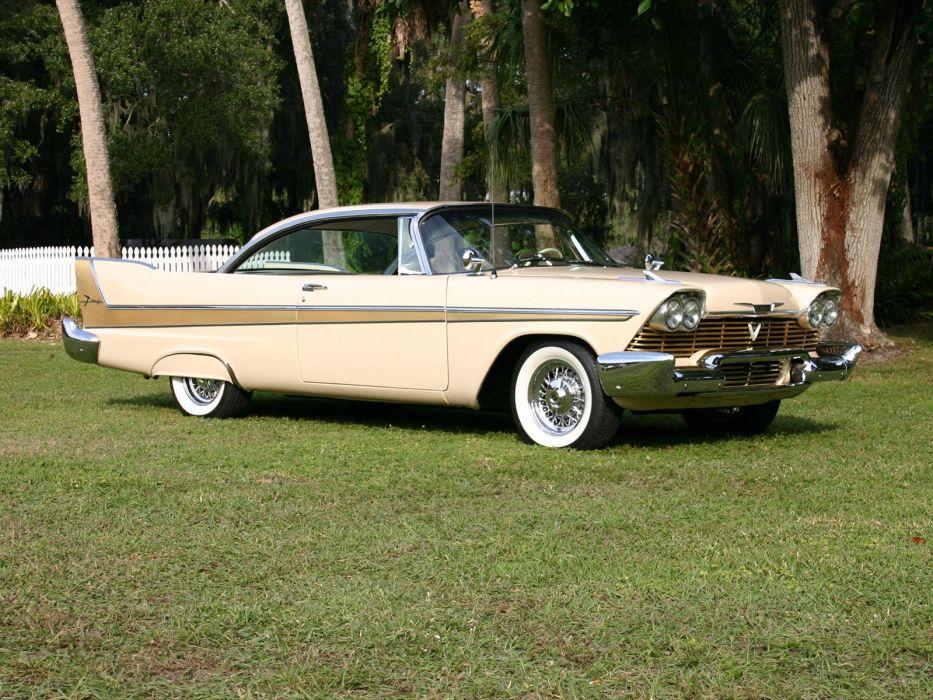 1958 Plymouth Fury Sport Coupe (2-3) retro luxury wallpaper