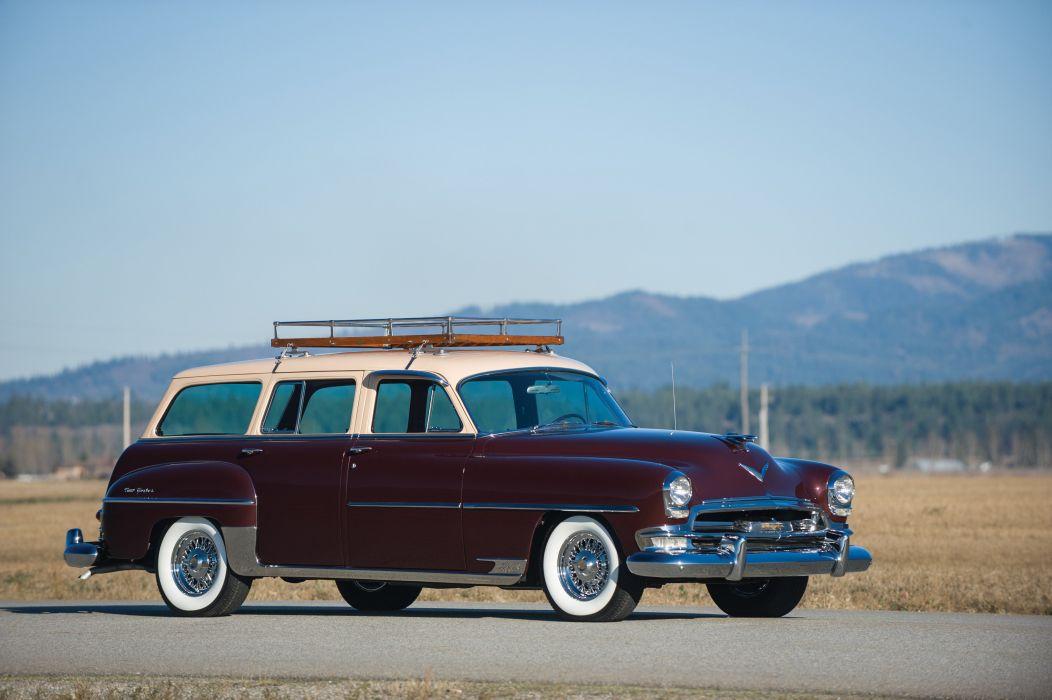1954 Chrysler New Yorker Town Country (C63-1) stationwagon retro luxury wallpaper