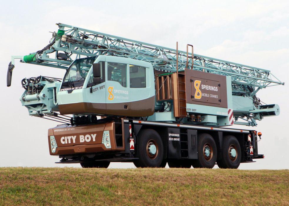 2010 Spierings SK387-AT3 City Boy crane construction 6x6 wallpaper