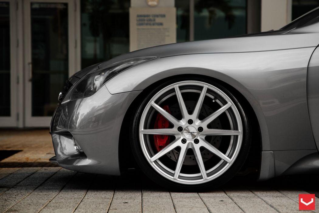Infiniti G37 vossen wheels tuning cars wallpaper