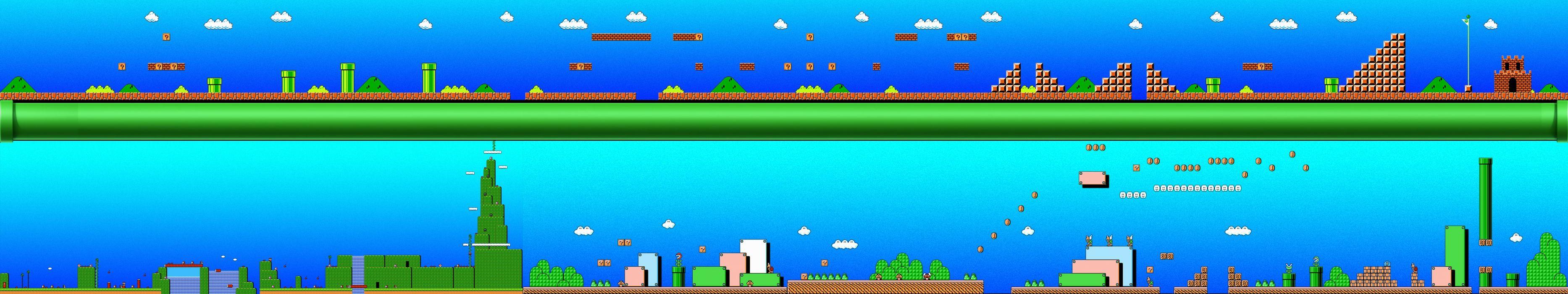 triple screen - multi monitor - multiple - videogame - jeux jeu video - steam - mario - super nintendo - snes wallpaper