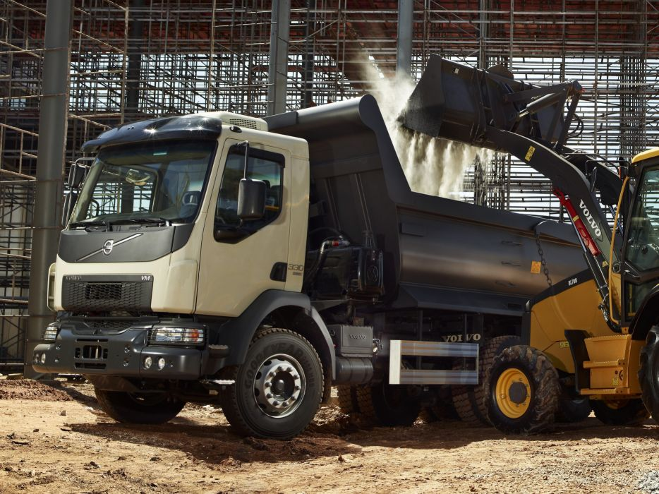 2014 Volvo V M 330 6x4 Tipper Dumptruck Construction Semi Tractor Wallpaper