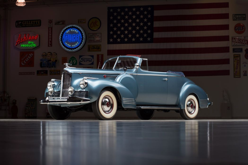 1942 Packard 160 Super Eight Convertible (2023-1579) luxury retro wallpaper