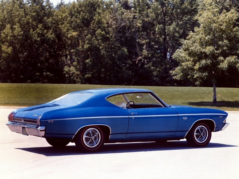 1969 Chevrolet Chevelle S-S 396 Hardtop Coupe muscle classic wallpaper