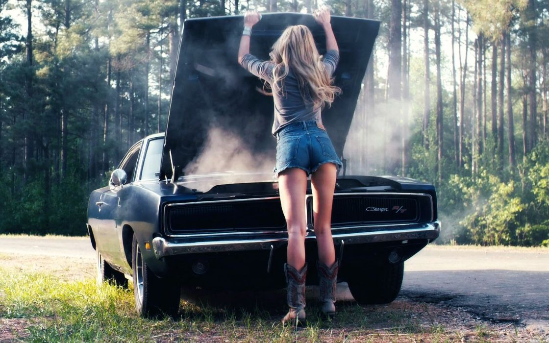 Amber Heard woman beautiful beauty model blonde car dodge wallpaper