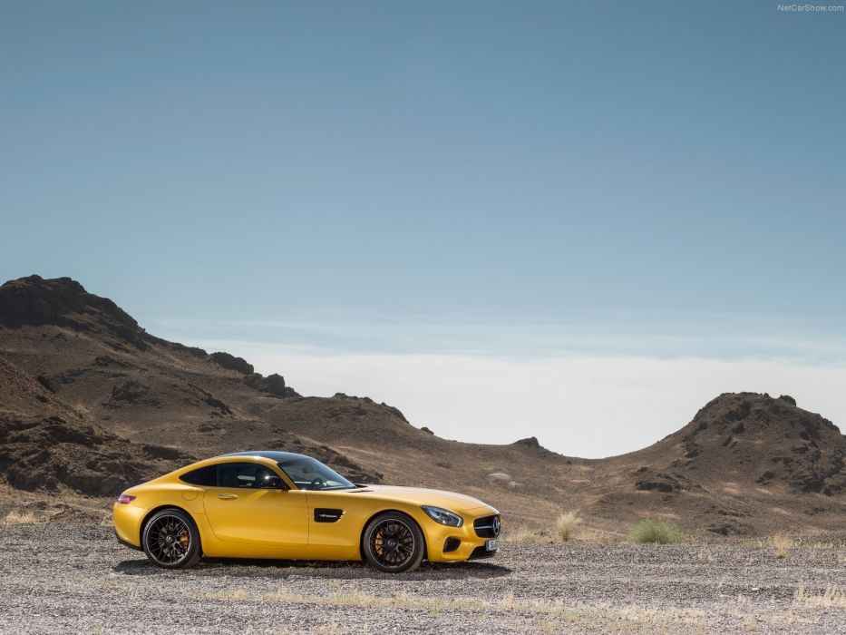 Mercedes Benz AMG GT coupe cars 2015 germany yellow jaune wallpaper