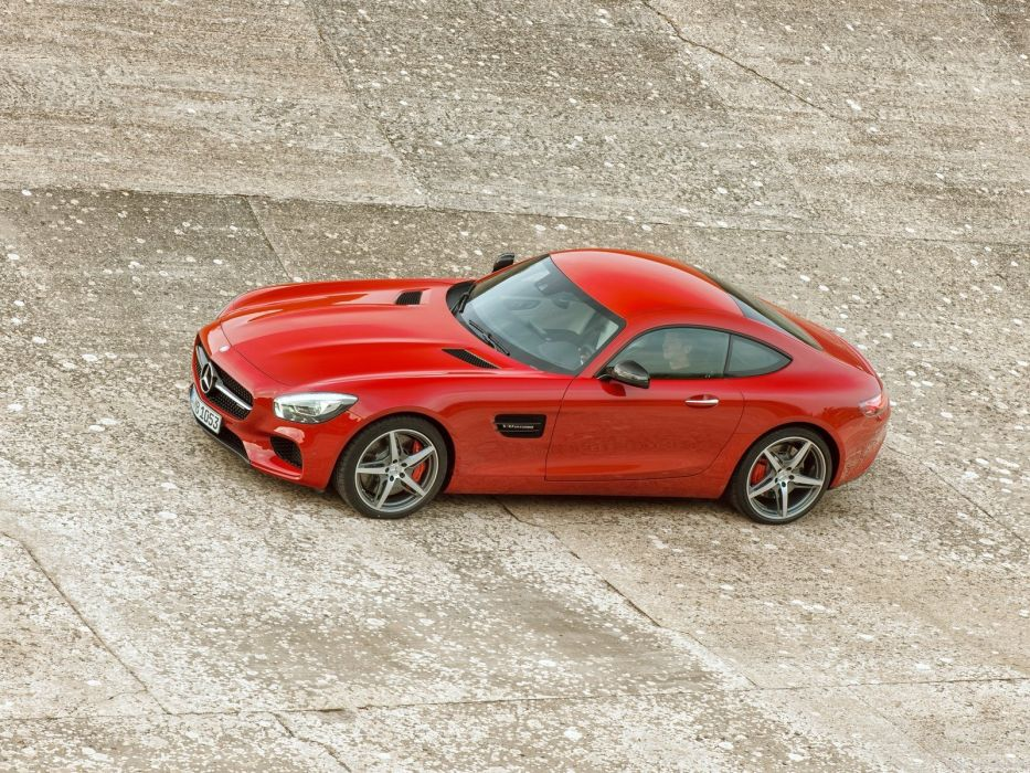 Mercedes Benz AMG GT coupe cars 2015 germany red rouge wallpaper