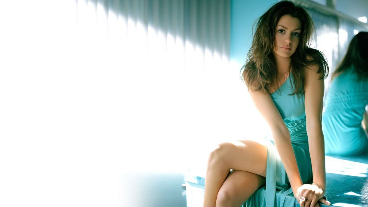 Anne Hathaway actress woman beautiful beauty model brunette wallpaper
