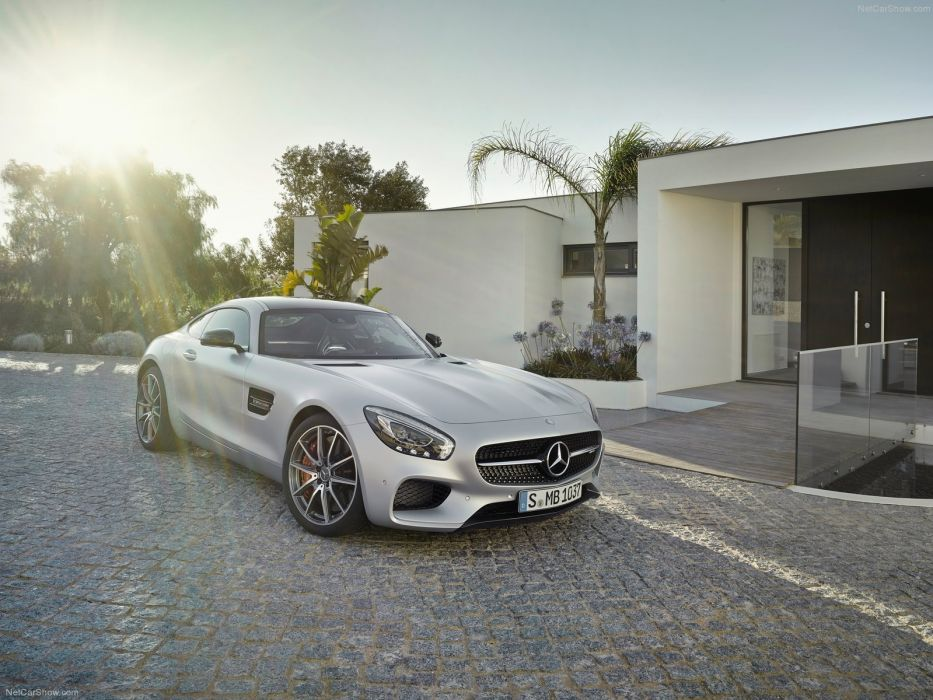 Mercedes Benz AMG GT coupe cars 2015 germany gris gray wallpaper