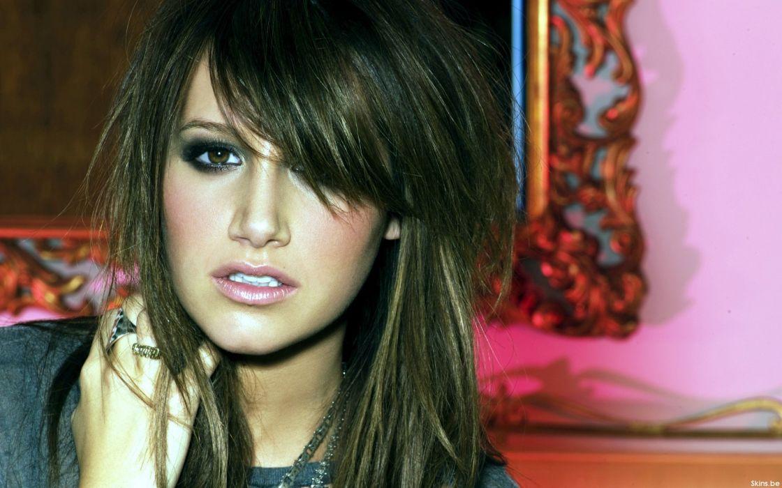 Ashley Tisdale woman beautiful beauty model brunette wallpaper