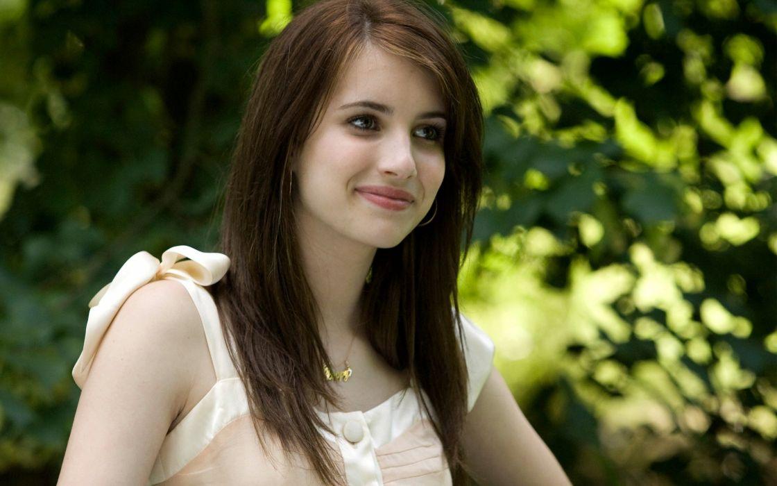 Emma Roberts woman beauty beautiful model brunette wallpaper