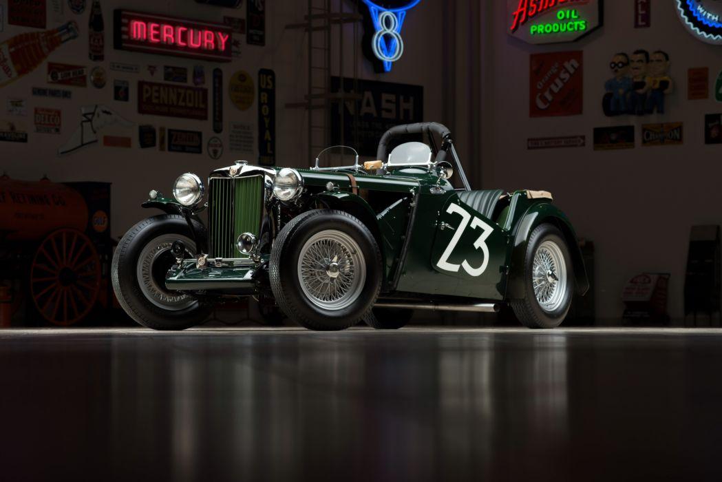 1949 M-G T-C Race racing retro wallpaper