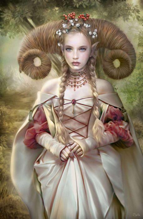 fantasy girl magic forest elf flower wallpaper