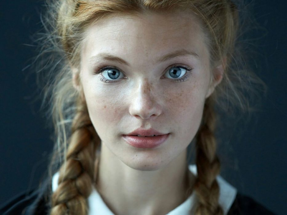 blonde girl cute blue eyes hair wallpaper