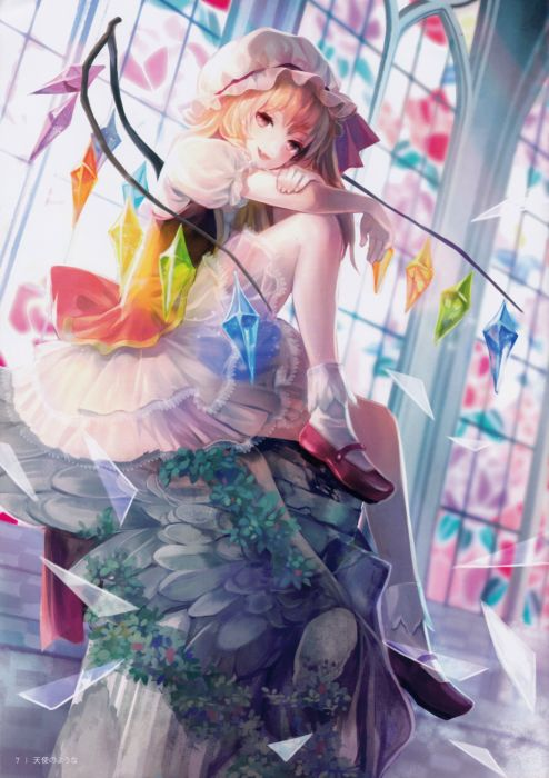 Touhou anime series girl Crystals Dresses Females wallpaper