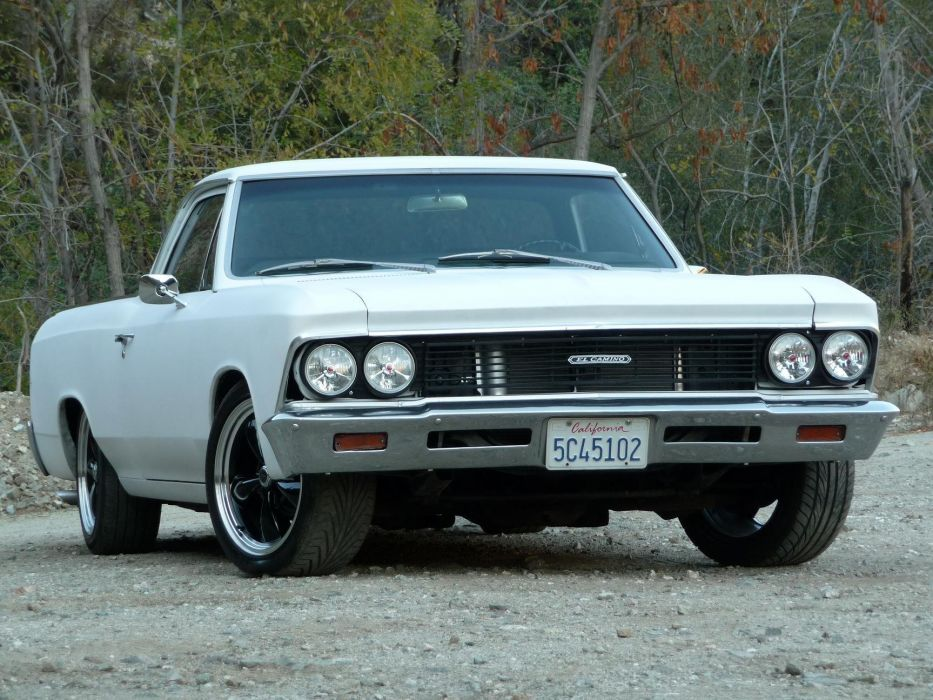 1966 Chevrolet El-Camino pickup muscle classic camino hot rod rods wallpaper