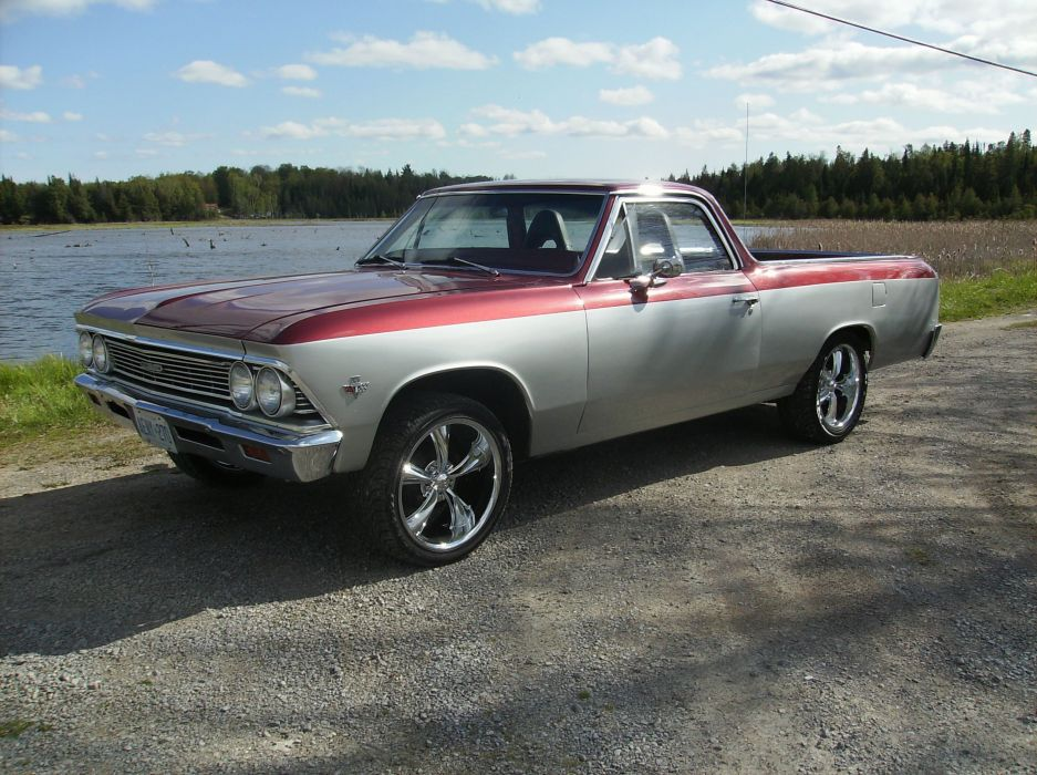 1966 Chevrolet El-Camino pickup muscle classic camino hot rod rods wallpaper